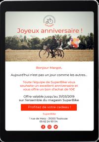 Mail automatique pour souhaiter l'anniversaire à un membre